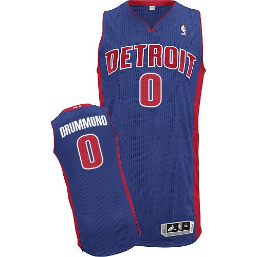 af566ba3f734 Mens Adidas Detroit Pistons 0 Andre Drummond Authentic Royal Blue Road NBA  Jersey