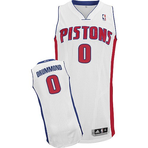 Mens Adidas Detroit Pistons 0 Andre Drummond Authentic White Home NBA Jersey 9ff968248