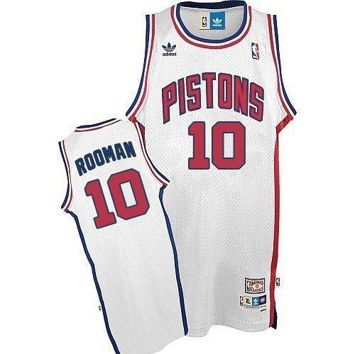 meet 6f56d 784b5 Mens Adidas Detroit Pistons 10 Dennis Rodman Swingman White ...