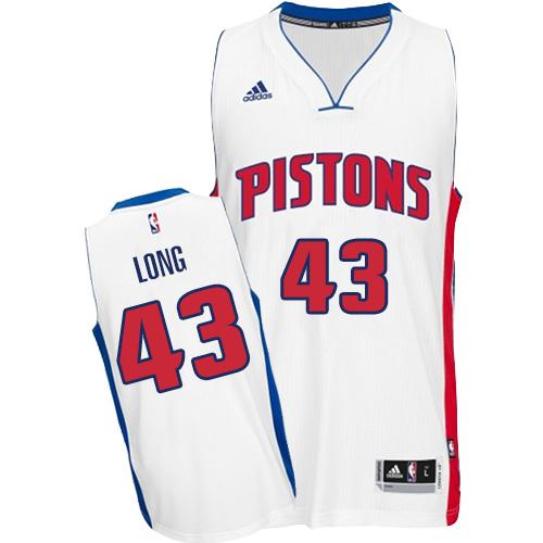 the best attitude b74af 5dd00 Mens Adidas Detroit Pistons 43 Grant Long Swingman White ...
