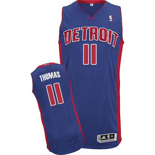 446a686a9 Mens Adidas Detroit Pistons 11 Isiah Thomas Authentic Royal Blue Road NBA  Jersey