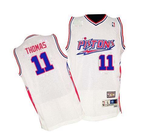 official photos de71e d8748 Mens Mitchell and Ness Detroit Pistons 11 Isiah Thomas ...