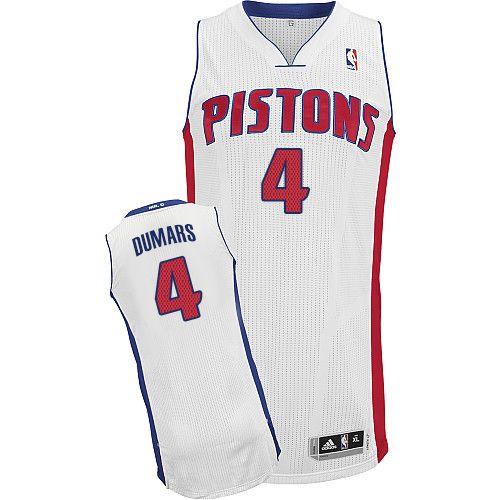 32e881509510 Mens Adidas Detroit Pistons 4 Joe Dumars Authentic White Home NBA Jersey